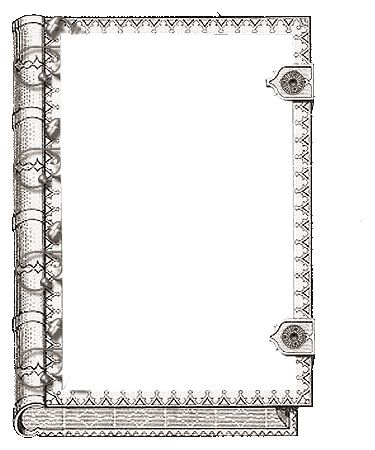 Printable book frame / cover art. Could be used as a border, or even a coloring page.