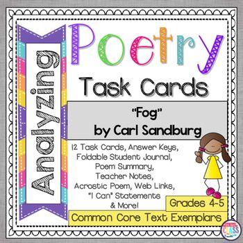 An analysis of the poet carl sandburg and his poem jaws Homework