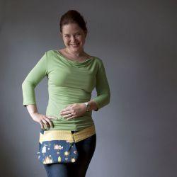 Funnypack, ledvinka, Bokovka Naše čtyři hodiny... - LOOKrecia| Ručně šité originální kabelky, homeopatická pouzdra, dámské peněženky, kabelky pro děti, bokovky, elegantní ledvinky
