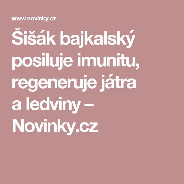Šišák bajkalský posiluje imunitu, regeneruje játra aledviny– Novinky.cz