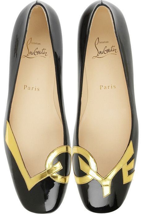 Christian Louboutin Love flats. In our dreams!