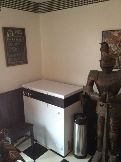 Chest Freezer Kegerator/Keezer and Building Cornhole Boards in the Downtime
