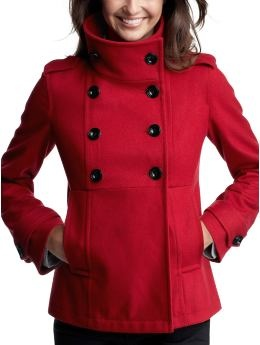 I want this coat so bad! Among all the grays and blacks of winter who doesn't love a little bright red?! This is from Gap and I MUST find it!!
