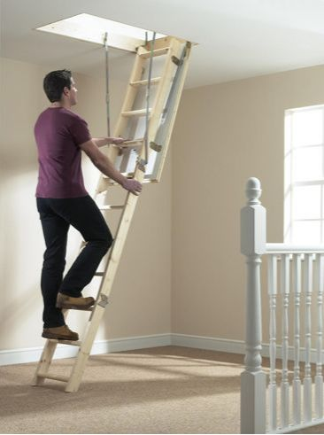 The Ladder Complete Kit is the well furnished loft-access solution | with an FSC-certified timber loft ladder.