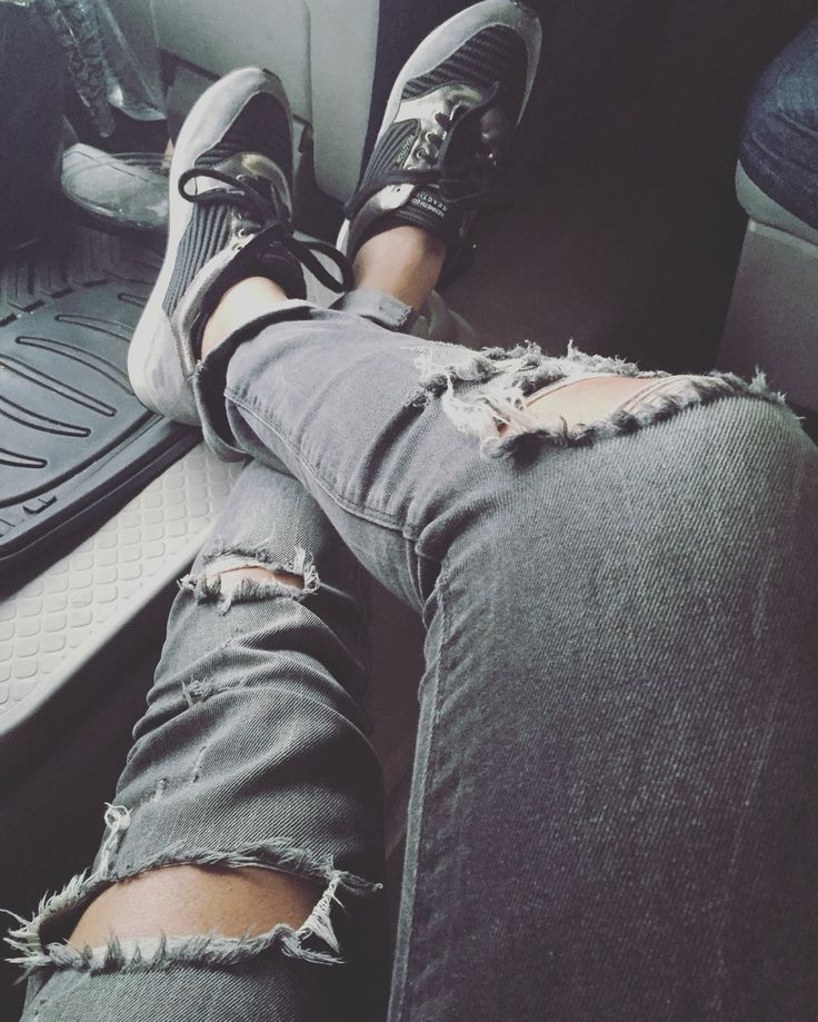 Ripped Jeans & Sneakers! #trend #fashion