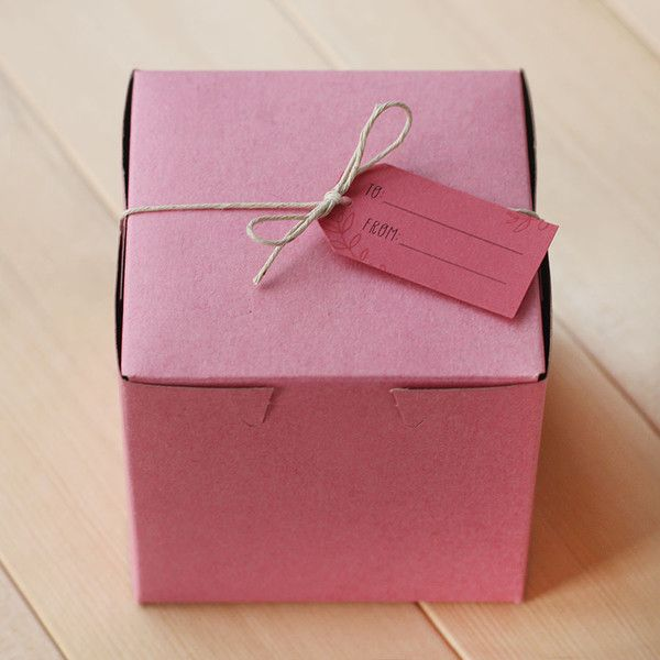 pink pastry boxes