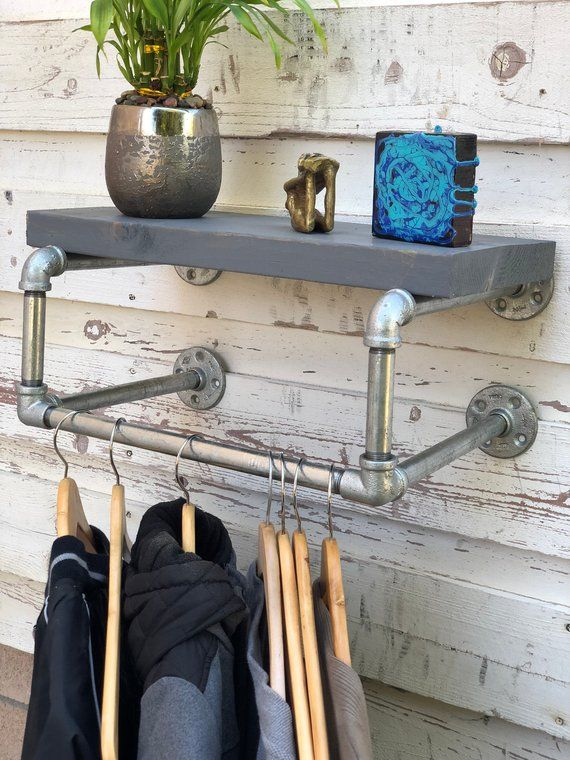 Industrial clothing rack   For the Home   Pipe rack, Pipe clothes