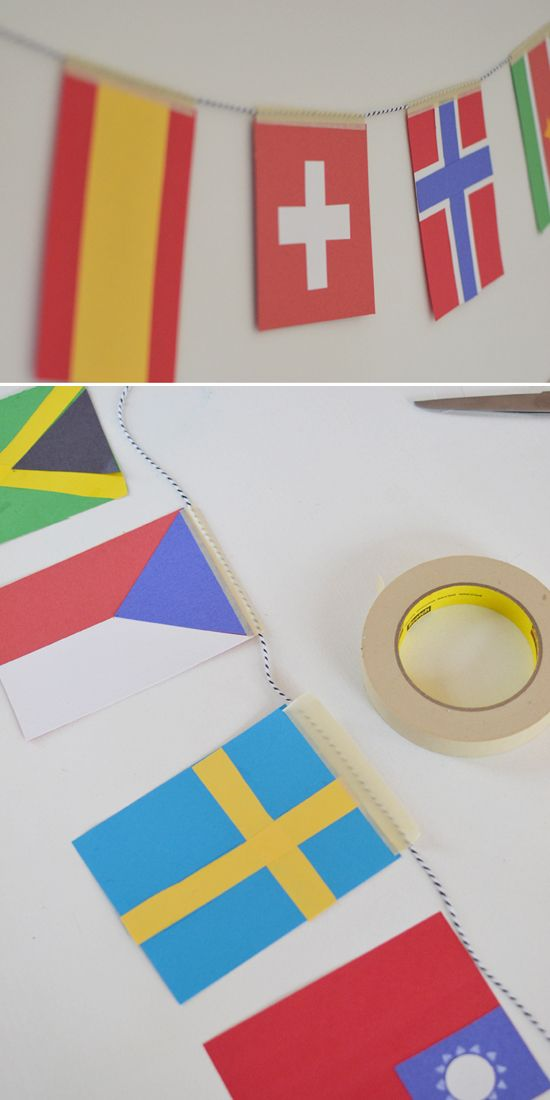 DIY Olympic Flag Garland ~ Craft with Kids ~ Learn about the World ~ Sochi 2014 | small for big