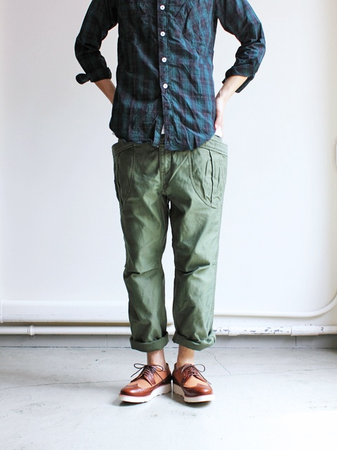 OLIVE FATIGUE TROUSERS by A VONTADE