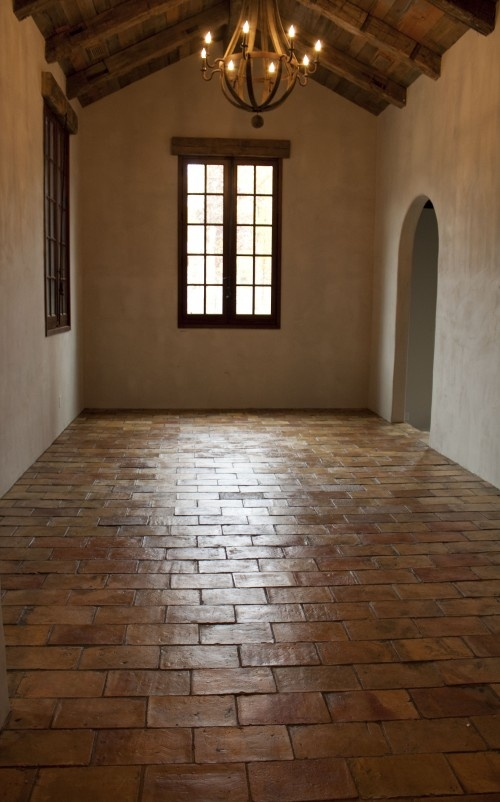 Marvelous Terracotta Floor Tile Living