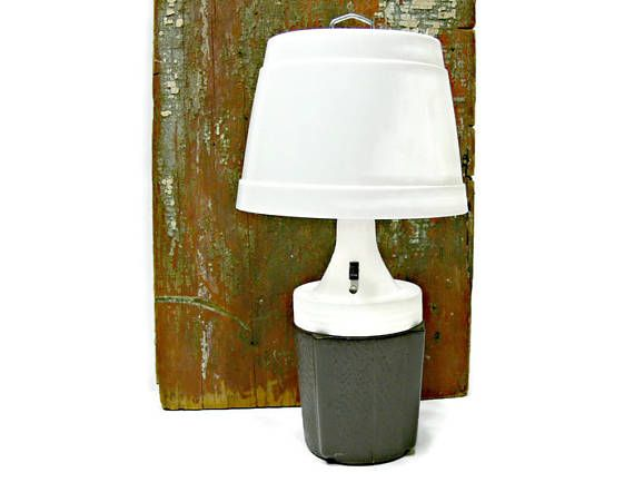 Vintage Camping Lamp  Battery Operated Table Lamp  Camp