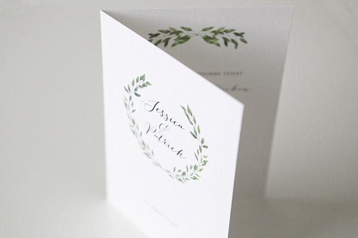 Custom made botanical wedding invitations by www.makeadesign.fi / Greenery wedding theme / Häät / Hääkutsut