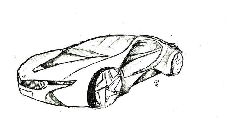 Ausmalbilder BMW i8 | Ausmalbilder | Pinterest
