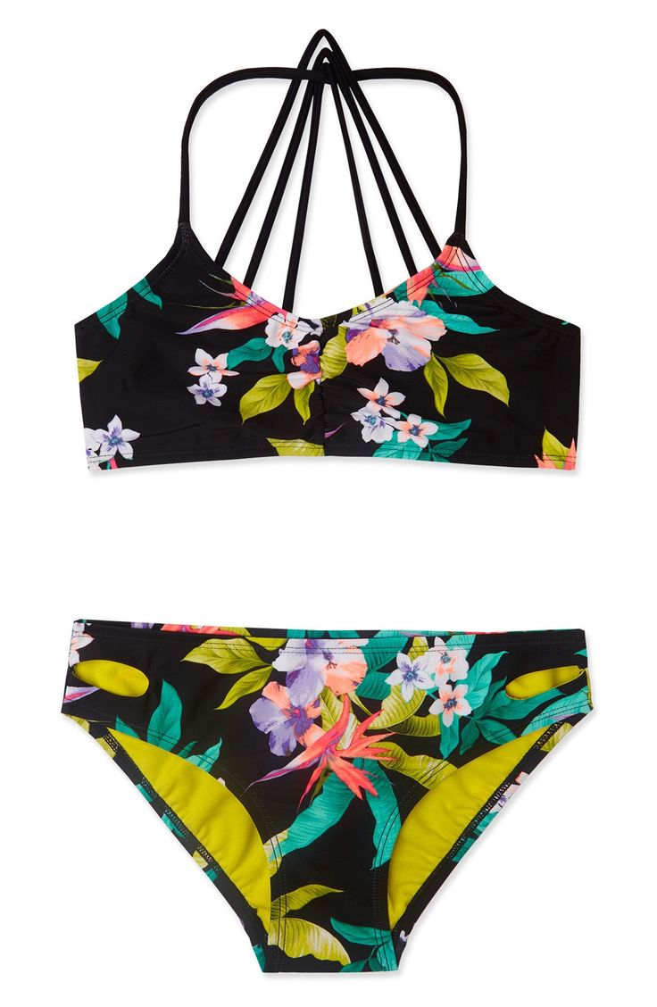 'Paradiso' Print Two-Piece Swimsuit (Big Girls)