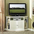 52 in. White Wood Corner TV Stand | Overstock.com Shopping - The Best Deals on Entertainment Centers