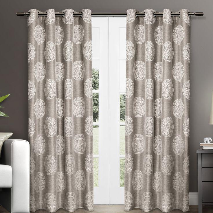 Ginny Medallion Grommet Curtain Panel Pair