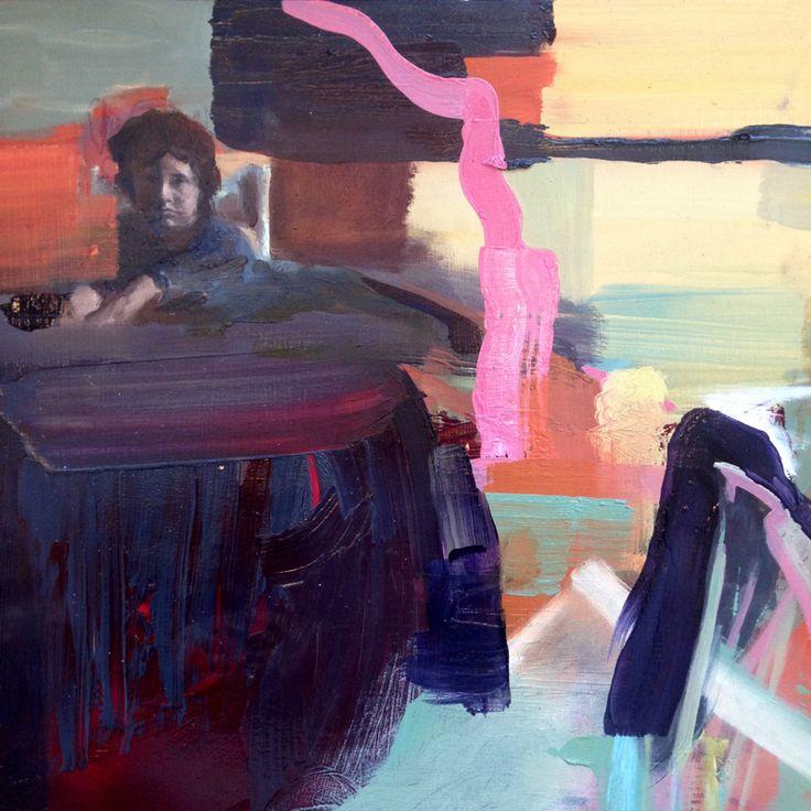 Eileen O'Sullivan, Waiting #oil #board #painting