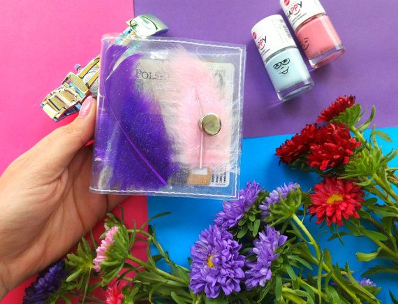 Gift for Woman ID holder credit Card holder with by YPSILONBAGS