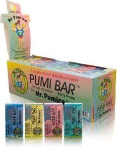PUMI BAR by Mr Pumice. $19.50. pumi bar. mr pumice. Buy Mr. Pumice Manicure & Pedicure Tools - Mr. Pumice Pumi Bar Regular Size ( Assorted Colors ) 1 Box (24 Counts). How-to-Use: Apply a little soap and warm water on areas to be cleaned, gently rub pumice on the area, rinse with water and let dry. Rinse Pumice Bar under hot water after each use.