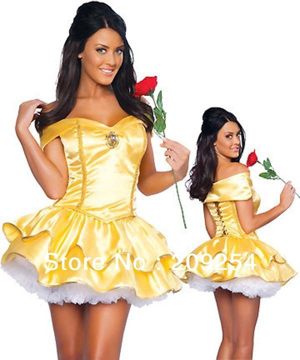Belle Halloween Costume With Underskirt