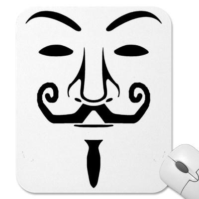 Tapete Ratón Anonymous Alfombrillas De Raton por LaMareaNaranja