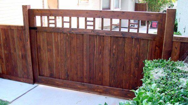 88 Best Craftsman Fence Images On Pinterest