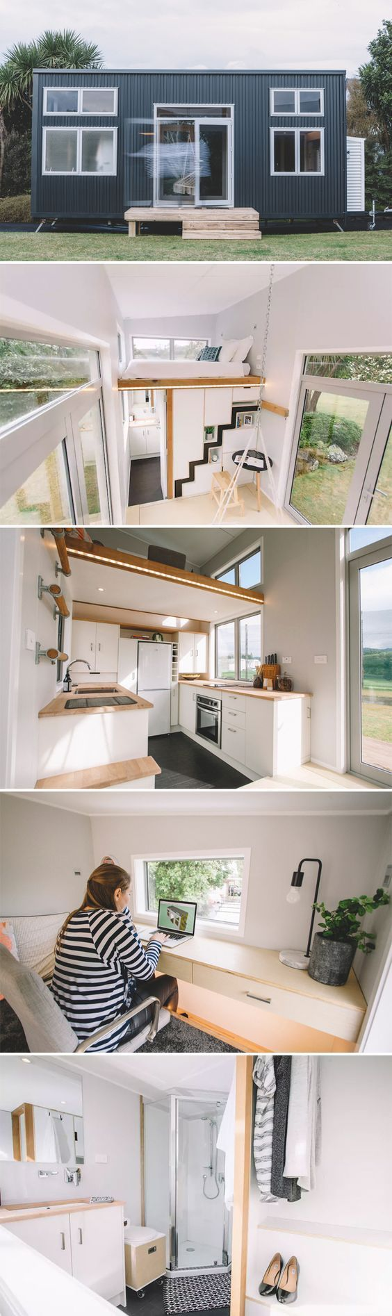 From New Zealand tiny house builder Build Tiny is the Millennial Tiny House, available for rent through Airbnb and located in Katikati, Bay of Plenty.