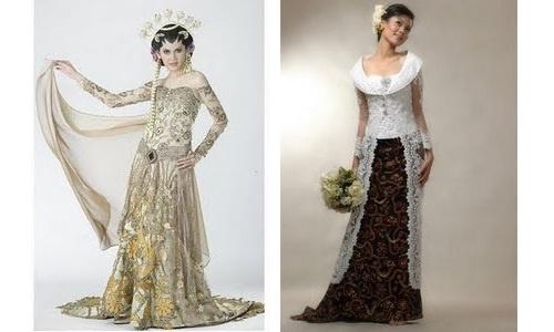 kebaya wedding dress style