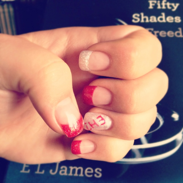 My Canada day nails