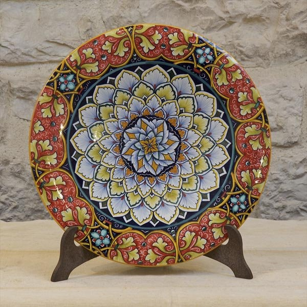 Hand-made hand painted decorative plate 17\  Bright & 52 best ITALIAN DECORATIVE ART images on Pinterest | Ceramic art ...