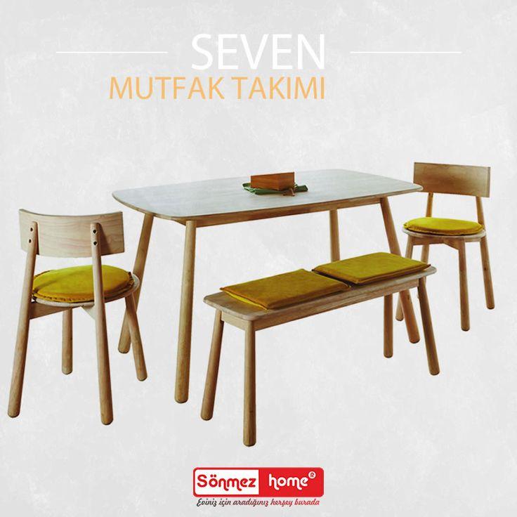 Seven Mutfak Masa Takımı evinize çok yakışacak!  #Modern #Furniture #Seven #Yuvarlak #Mutfak #Masa #Takımı #Sönmez #Home