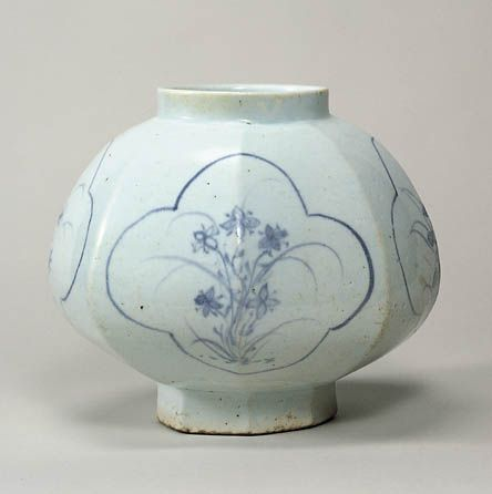 Blue and white porcelain jar in autumn grasses style. 18th Century, Joseon dynasty, Korea