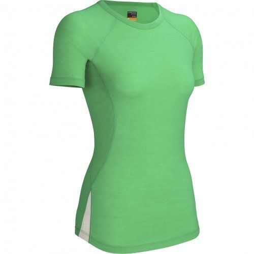 Icebreaker Women's Bolt Short Sleeve Crewe Top by Icebreaker. $90.99. ultra light weight; Raglan Sleeves; 96% merino / 4% LYCRA®; Sporty styling. This incredibly lightweight and comfortable all-season running tee will give you all the speed you need. The Bolt Crewe provides complete freedom of movement while managing your core temperature and keeping sweat to a minimum. With no-chafe flatlock stitched seams, its soft 150gm merino wool is enhanced with LYCRA® for a snug,...