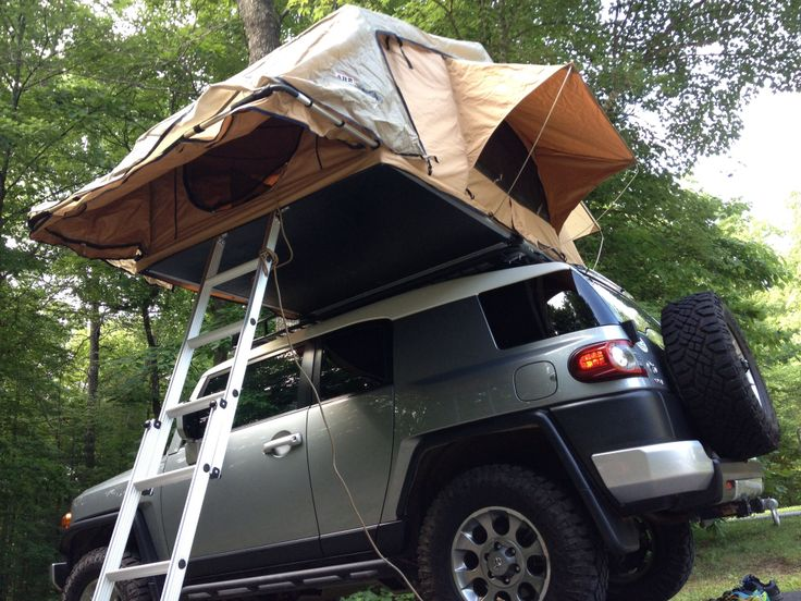 Because I will sleep in a tent but not on the ground. ARB rooftop tent.