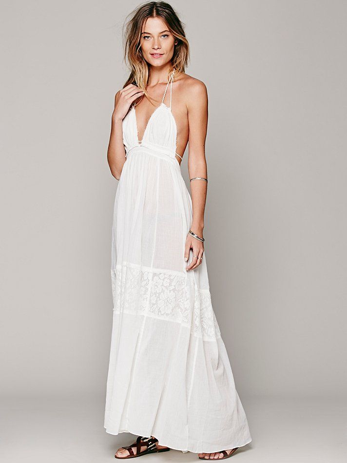 Free People Endless Summer Triangle Top Maxi, $118.00 this dress is perfect for getting married in