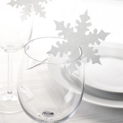 Snowflake Placecards   Christmas Table Decorations   Partyt