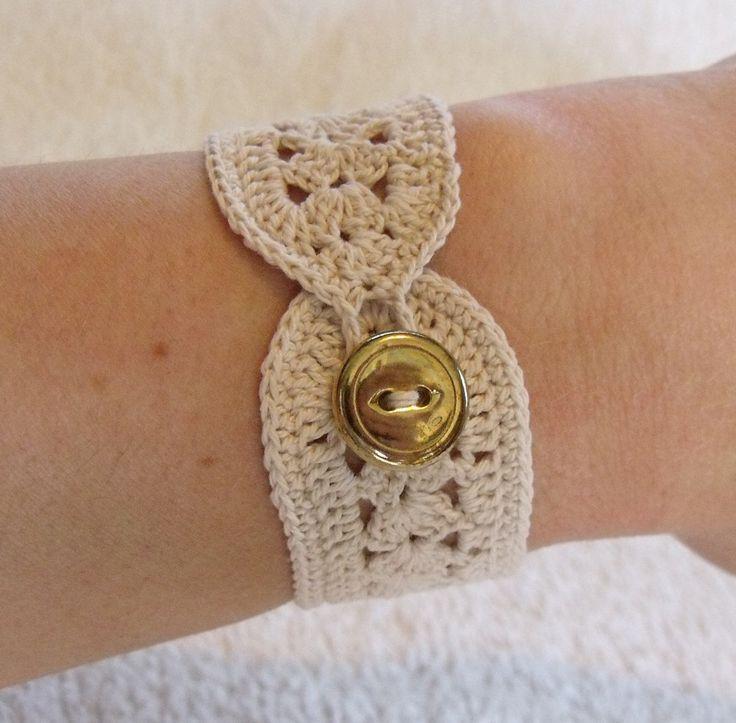 Vintage Inspired Crochet Bracelet