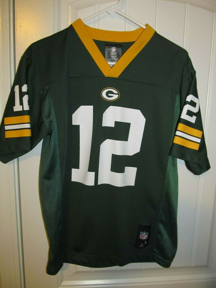 Aaron rodgers green bay packers jersey nfl youth large