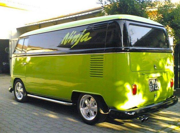 V - bus - lime green and black - called 'ninja' | Vw bus | Pinterest | Limes, Vw and Volkswagen