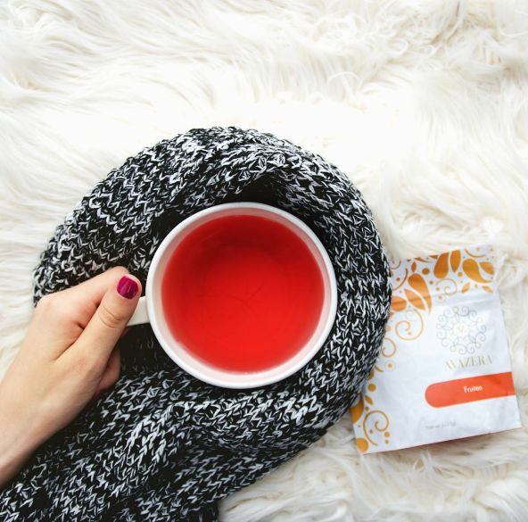 Cozy up this cold season with our Fruitea! Made with apple, rosehip, lemon pieces, and hibiscus petals- you'll feel like you are in the tropics!  #tea #looseleaftea #autumn #november #teatime #tealover #health #organic #natural #christmas #winter #love #cozy #gift #fruittea #happy #love #teacup #scarf #nails #warm #friday #weekend #friyay #goodmorning #tgif #feelgoodfriday #home #relax #moment