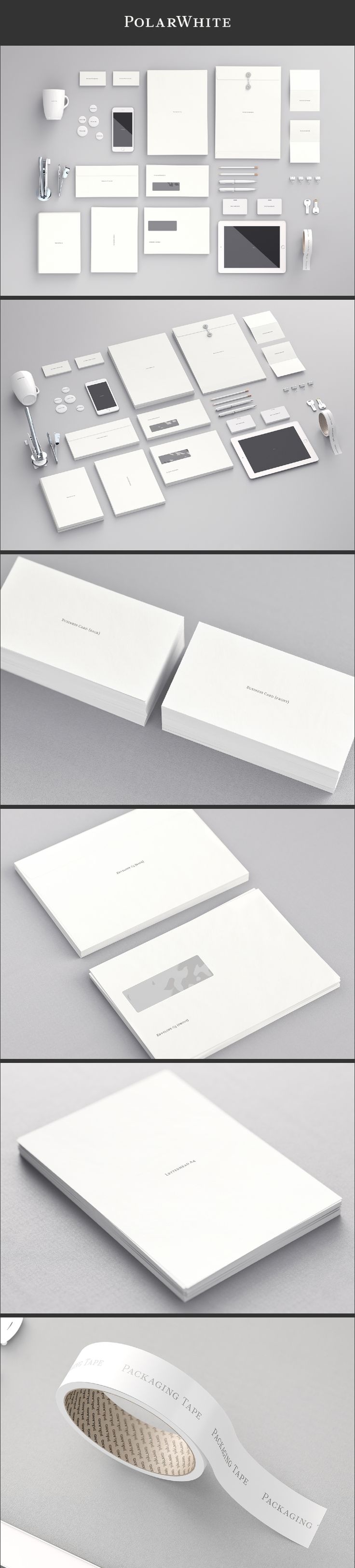 PolarWhite stationary by JHåland is a free MockUp collection for Photoshop CS6 and up