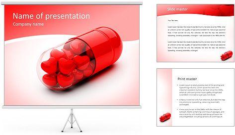 Corazones Rojos En Pill Plantillas de Presentaciones PowerPoint y ...