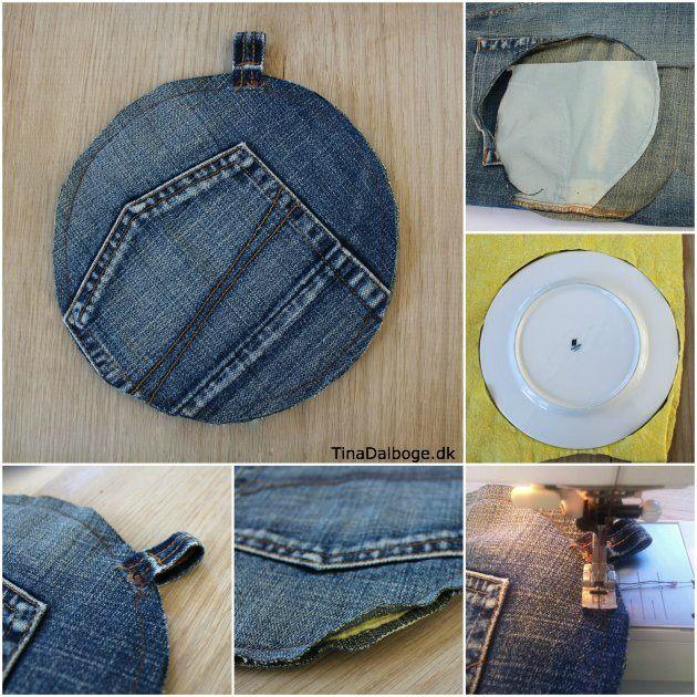 Sådan kan du genbruge cowboybukser til grydelapper. Sjov og dekorativ idé.