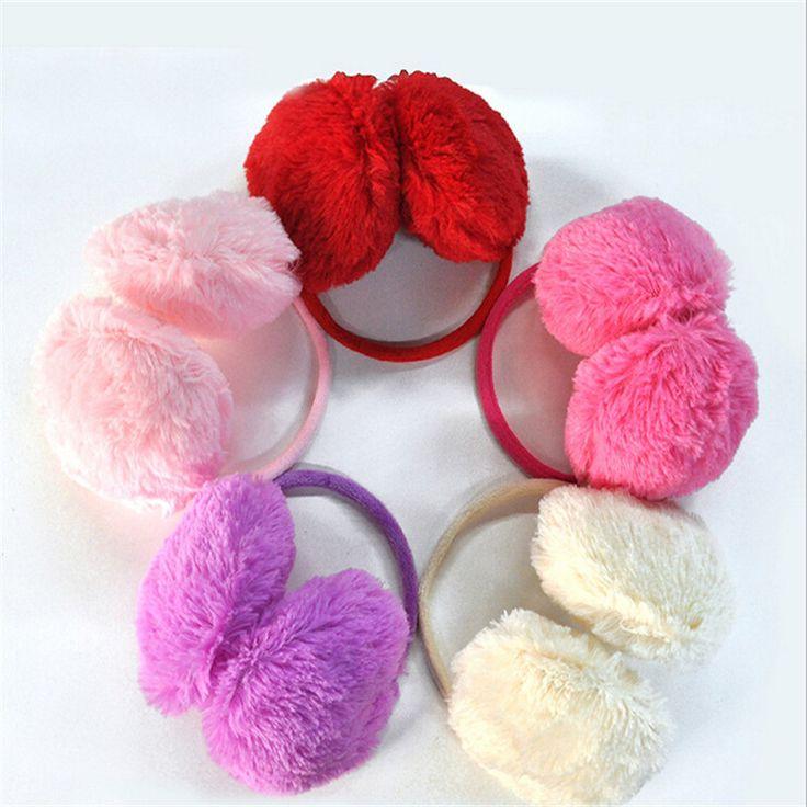 1pcs/lot 15.5cm 2015 New Arrival Winter Plush Women Earmuffs Pure 10 Colors Warmers Ear Muffs Hot-sale Orejeras Cache Oreille