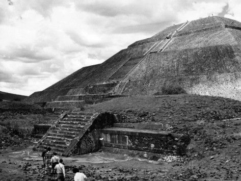 Pyramid of the Sun, in the Pre-Aztec City of Teotihuacan in Mexico, 1961 Posters at AllPosters.com