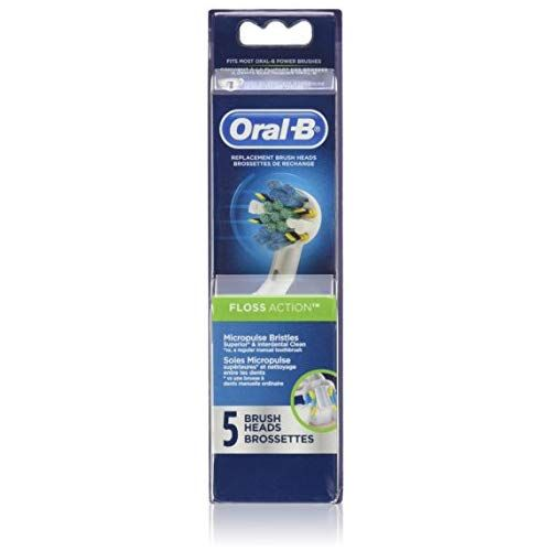 Oral B Floss Action Replacement Electric Toothbrush Head 5 Count Electric Toothbrush Heads Oral B Electric Toothbrush