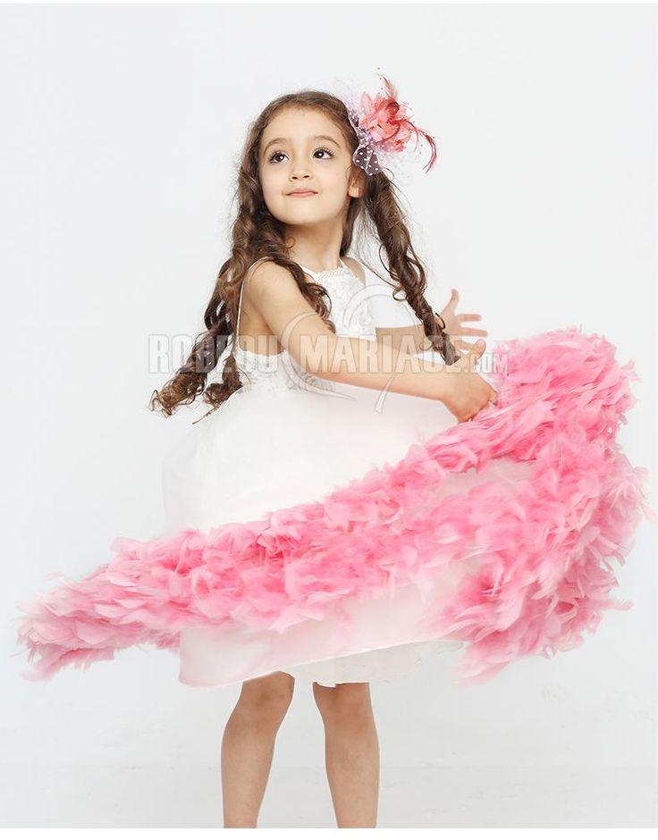 bretelle magnifique robe cortge enfant organza fleur perle robe208702 robedumariagecom - Robe Cortege Fille Mariage