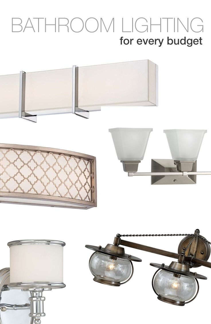 Bathroom lighting that can fit into every budget and every style.