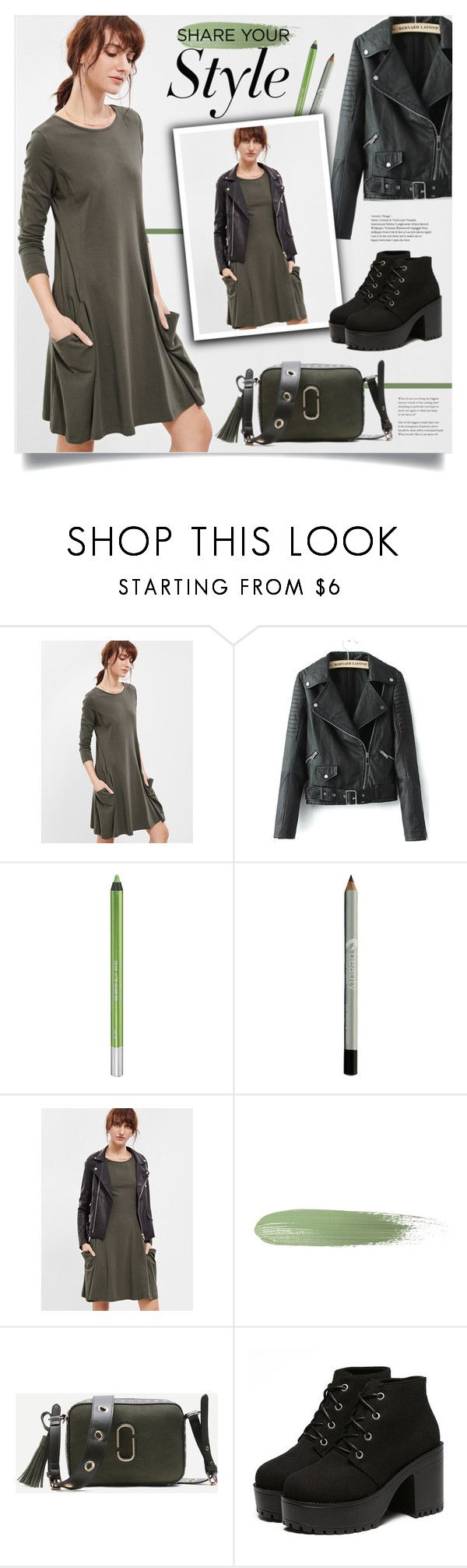 """Share Your Style"" by mahafromkailash ❤ liked on Polyvore featuring WithChic, Urban Decay, men's fashion, menswear, dress, jacket, PlatformBoots, moto and shein"