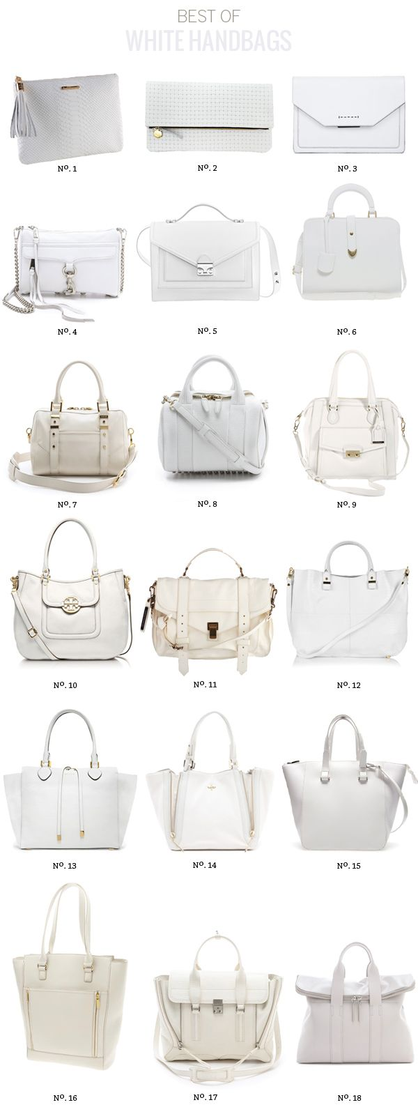 Best Of: White Handbags by Modern Eve